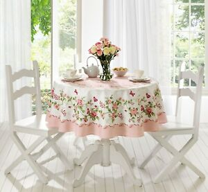 Rose Decorative Printed  with roses 60 inch Round or Rectangle Tablecloth