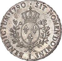 Louis XVI Ecu aux branches d'olivier 1790 Limoges Splendide exemplaire