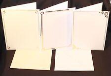 5  A5  LUXURY FOILED EMBOSSED BORDER CARD BLANKS & C5 ENVELOPES