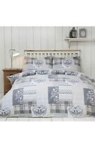 Alpine Patchwork 100% Brushed Cotton  Duvet cover only No pillowcases superking