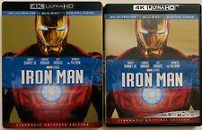 DISNEY MARVEL IRON MAN 4K ULTRA HD BLU RAY 2 DISC SET + SLIPCOVER SLEEVE BUYIT