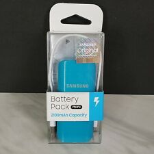NEW Authentic Samsung TEAL Mini Battery Pack 2100 mAh Portable &Compact Charger