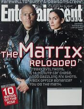 THE MATRIX RELOADED Carrie-Anne Moss Laurence Fishburne 2003 ENTERTAINMENT WKLY