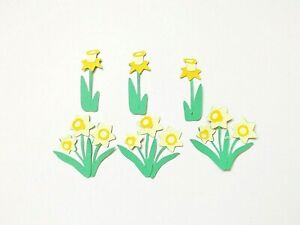 Daffodils Spring Flowers Papercraft Embellishments Scrapbooking Card Crafts