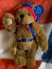"Vintage 12"" Vermont Plush Teddy Bear Hiker w/Rope Harness Backpack Fully Jointed"