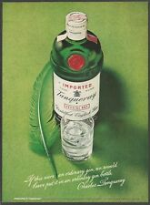 TANQUERAY Distilled English Gin - 1971 Vintage Print Ad