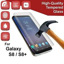 SamsungGalaxy S8/S8+ Tempered Glass Screen Protector w/ TPU Case-Choice of Color