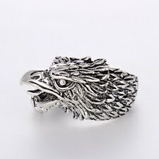 Men's/Women's Stainless Steel Unique Silver eagle Rings Fashion Jewelry size 10