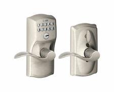 Schlage  Satin Nickel  Steel  Electronic Keypad Entry Lock