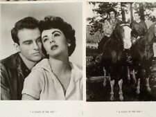 "Montgomery Clift & Elizabeth Taylor 8x10 Photos  ""A Place In The Sun""  5 Photos"