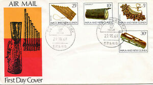 PAPUA AND NEW GUINEA 1969 Musical Instruments set  FDC  #293-296
