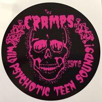 New unused Vinyl Window Sticker cramps rockabilly psychobilly punk 90mm car