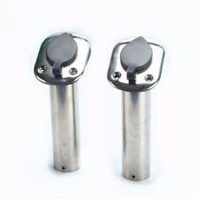 2x Rod Holder Flush Mount Stainless Steel fishing Rod Holders - 30 Degree