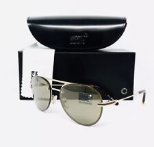 0d54974c97fe New Mont Blanc Sunglasses 717 S 32G Gold 59•17•140 With Case