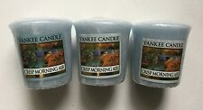 Yankee Candle CRISP MORNING AIR LOT OF 3 WRAPPED VOTIVES FRESH SCENT RETIRED HTF
