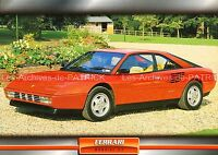 FERRARI Mondial 3.2 1985 : Fiche Auto Collection