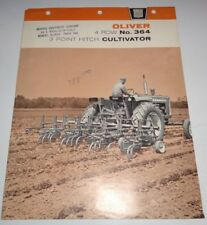 Oliver 364 Cultivator Sales Brochure Manual Literature 1963 Original! cockshutt