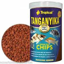 TROPICAL TANGANYIKA SINKING CHIPS - contains krill & squid 520g - Aussie Seller