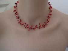 Collier Rouge Bordeaux robe de Mariée/Mariage/Soirée perle original pas cher