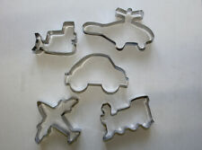 Planes Trains and Auto COOKIE/biscuit CUTTER SET Bulldozer Helicopter Car