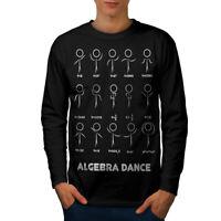 Wellcoda Algebra Math Dance Mens Long Sleeve T-shirt, Nerds Graphic Design