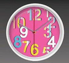 Wanduhr 3 D Design 32,5 cm Modern 2090 rosa bunt