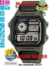 AUSSIE SELER CASIO WATCH AE-1200WHB-3BV AE1200WHB AE1200 AE1200WH 12-MNTH WRANTY