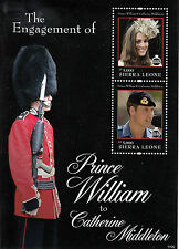 Sierra Leone 2011 MNH Royal Engagement 2v S/S II Prince William Kate Stamps