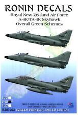 Ronin Decals 1/48 A-4K & TA-4K SKYHAWK New Zealand AF Green Camo Schemes