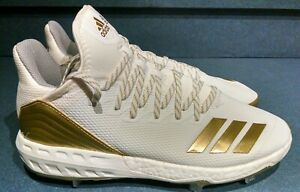 Adidas Boost Icon 4 Men's Size 10 Baseball Cleats White Gold CM8476