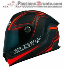 Helmet Suomy Sr sport Full Carbon Red casque moto integral helm size L