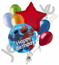 7 pc Sesame Street Fun Happy Birthday Balloon Bouquet Party Decoration Elmo Baby