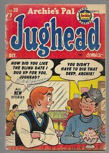 Archie's Pal Jughead Comics #20 1953 Archie Golden Age Comic Book Low Grade