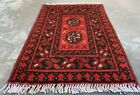 Authentic Hand Knotted Afghan Aqcha Wool Area Rug 2 x 2 Ft (1568 HMN)