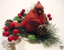 Resin Christmas Cardinal Birds Figurines  4''  NEW