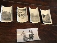 "Lot Of 5 Assorted WW2 Pictures - ORIGINAL PHOTO 3.5"" X 2.5"" - Stamped 252"