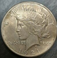 1921 Peace Dollar Silver $1 High Relief Key Date Toned Uncirculated BU MS OFFER