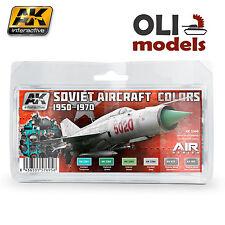AIR Series SOVIET AIRCRAFT COLORS 1950-1970 Acryl Paint Set AK Interactive 2300