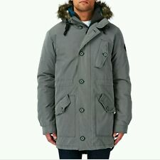 O'NEILL - Mens Grey Advanced All Conditions Parka Coat 8K WATERPOOF Small BNWT