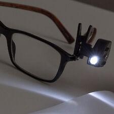 Lampada Clip LED per 360 Luce Occhiali Lettura Notturna Libro OCCASIONE tf
