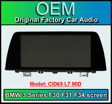 BMW 3 Series display screen, BMW F30 F31, CID65 L7 MID, LCI Multi function