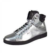 NIB SALVATORE FERRAGAMO 'Stephen 2' Silver Metallic Sneakers Shoes 10/43 EE $675