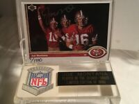 1991 UPPER DECK SCORE BOARD JOE MONTANA SIGNED CARD NINERS LEGEND COA #9/1980