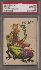 PSA 10 1965 TOPPS UGLY STICKERS #41 BRUCE