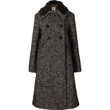 ORLA KIELY Winter Tweed Georgina Coat Black Uk12 | Jacket Bag Dress Shirt Wallet