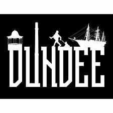 Dundee Typography Silhouettes Large Canvas Wall Art Print 18X24