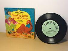 Disneyland 33 Rpm Record Story Song Book Vintage Walt Disney How Camel Got Hump