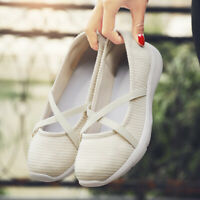 Women's Casual Sneakers Slip On Comfortable Walking Flat Light Driving Shoes