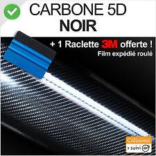 Film Vinyle adhésif carbone 5D noir 152cm x 80cm ultra réaliste + raclette 3M