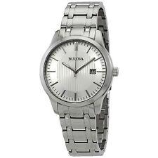 Bulova 96B245 Men's Classic Silver Quartz Watch